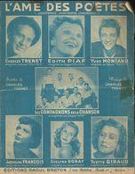 """L'âme Des Poètes"""" (Longtemps, Longtemps, Longtemps....)Paroles Et Musique De Charles Trénet - Edith Piaf, Yves Montand - Musique & Instruments"""