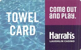 Harrah's Casino Laughlin, NV Towel Card - Casino Cards