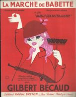 """""""La Marche De Babette"""" Du Film """"Babette S'en Va-t'en Guerre"""" Gilbert Bécaud - Beau Portrait De Brigitte Bardot - Musik & Instrumente"""