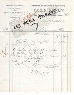 32 - Gers - VIC-FEZENSAC - Facture DUPUY - Menuiserie, ébénisterie, Meubles - 1934 - REF 155A - France