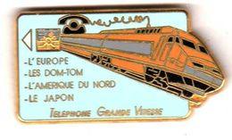 Pin's TGV Télécarte Zamac Ballard ( 1 ) Voir Description - TGV