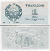 Uzbekistan 1992 - 1 Sum - Pick 61 UNC - Uzbekistan