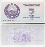 Uzbekistan 1992 - 5 Sum - Pick 63 UNC - Uzbekistan