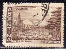 ARGENTINA 1959 1970 TIERRA DEL FUEGO PESOS 5p USATO USED OBLITERE' - Argentina