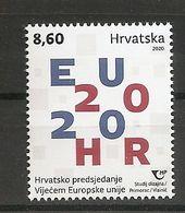 CROATIA 2020,CROATIAN PRESIDENCY OF THE COUNCIL OF THE EUROPEAN UNION,MNH - Croacia