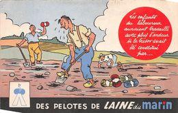 """¤¤  -  NANTES   -  Carte Publicitaire Des Pelotes De Laine Du """" MARIN """" 17 Rue Crébillon   -   ¤¤ - Nantes"""