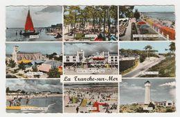 85 La Tranche Sur Mer N°5 En 9 Vues De 1961 Manège Stand R. Laurent Hôtel De L'Océan Camping Voilier Phare VOIR DOS - La Tranche Sur Mer