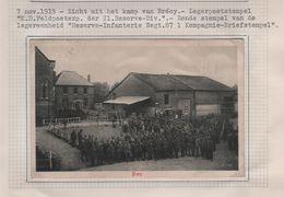 G22/ CP-PK Camp De Brécy France C.K.DFeldpostexp.der 21 Reserve-Div 7/11/1915 + C.Reserve-Infanterie Regt 87 1 Kompagnie - Occupation 1914-18