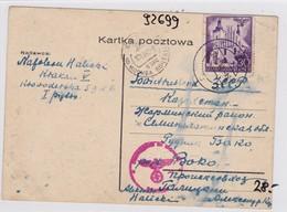 GG: Postkarte Von Krakau Nach Russland, Zensur - Occupation 1938-45