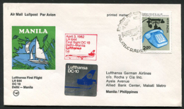 Lufthansa Erstflug (First Flight) LH 644 Dehli - Manila 03.04.1982 Douglas DC10 Luftpost (Airmail) - Avions