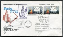 Lufthansa Erstflug (First Flight) LH 508 Frankfurt - Buenos Aires 05.04.1980 Boeing 747SL Luftpost (Airmail) - Flugzeuge
