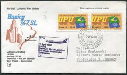 Lufthansa Erstflug (First Flight) LH 506 Frankfurt - Montevideo 11.04.1980 Boeing 747SL Luftpost (Airmail) - Flugzeuge