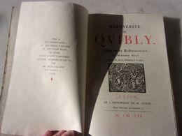LYON MARGUERITE DE QUIBLY ABBESSE  DU MONASTERE ROYAL DE ND  DE LA DESERTE 1921 - Libri, Riviste, Fumetti