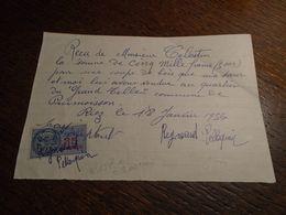 1956 - Alpes De Ht PROVENCE ( RIEZ )  - Timbre FISCAL N° 157 A =3,00 Eur + 3   Photos - Fiscaux