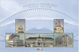 Belg 2020 - Places De La Ville De Liège ** (+ Une Feuille Transparente Imprimée) - Belgium