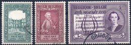 N° 987/989 Mozart Oblitérés (used) - Belgium