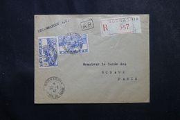 TUNISIE - Enveloppe En Recommandé AR De Mornaghia Pour La France En 1947, Affranchissement Plaisant -  L 63687 - Covers & Documents