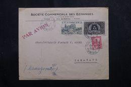 TUNISIE - Enveloppe Commerciale De Tunis Pour Madagascar En 1948, Affranchissement Plaisant -  L 63688 - Covers & Documents