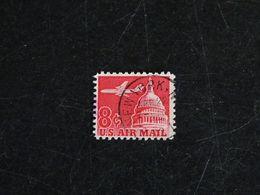 ETATS UNIS USA UNITED STATES YT PA 61 OBLITERE - AVION ET DOME DU CAPITOLE - 3a. 1961-… Gebraucht