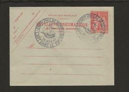 Entier Postal / CAD 25/11/1941 / Exposition Philatélique De Paris Sur Enveloppe Pneumatique Chaplain N° 2779 De 1938 - Entiers Postaux