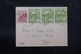TUNISIE - Enveloppe De Tunis Pour Troyes En 1951, Affranchissement Plaisant -  L 63700 - Covers & Documents
