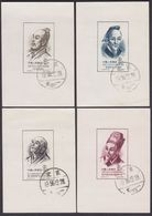 PRC CHINA , BLOCK 1 - 4  /  1955  /   SCIENTISTS OF ANCIENT CHINA C33 /  COMPL.SET  /  GOOD QUALITY - Used Stamps