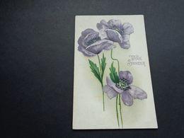 Carte ( 1219 )  Gaufrée  Reliëf   Fantaisie  Fantasie  Fleurs  Fleur  Bloemen  Bloem - Fleurs