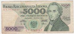 Poland P 150 C - 5000 5.000 Zlotych 1.12.1988 - Fine+ - Pologne