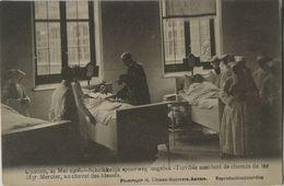 Contich - Kontich Spoorweg Ongeluk 1908 - Mgr. Mercier, Au Chevet Des Blesses 19?? - Kontich