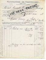35 - Ille-et-vilaine - FOUGERES - Facture BEZIEL, BRAULT, HOUDUSSE & FLEURY - Manufacture De Chaussures- 1925 - REF 155B - 1900 – 1949
