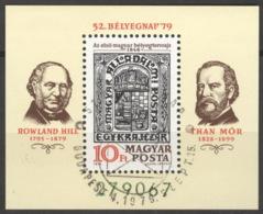 Ungarn Block 138A O Tag Der Briefmarke - Blocks & Kleinbögen