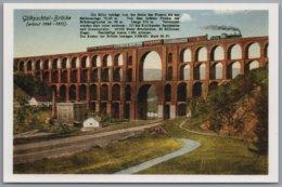 Göltzschtal - Göltzschtalbrücke Eisenbahnlinie Mit Lokomotive Nachdruck 150 Jahre Deutsche Eisenbahnen - Vogtland