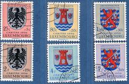 Luxemburg 1956 Heraldic Crests 6 Values Cancel. 2006.1989 Blason Cantonale Kantonalwappen Echternach, Esch Grevenmacher - Heraldik, Wappen