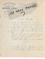 35 - Ille-et-vilaine - VITRE - Facture JAVAUDIN-LEBEAU - Bois Du Nord, Ardoises, Charbons Et Cokes - 1905 - REF 155B - France