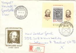 Ungarn Block 138A Auf R-FDC Tag Der Briefmarke - FDC