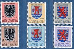 Luxemburg 1956 Heraldic Crests 6 Values MNH 2006.1988 Blason Cantonale Kantonalwappen Echternach, Esch Grevenmacher - Heraldik, Wappen
