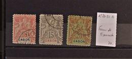 06 - 20 - Gabon - N° 20 - 21 - 22 - Faux De Fournier - Gabon (1886-1936)