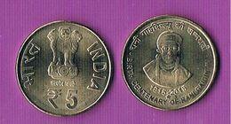 India 5 Rupees- R.Gaidinliu-2015 - UNC - India