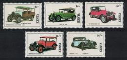 Kenya Vintage Cars 5v MNH SG#575-579 - Kenya (1963-...)