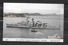 Escorteur D'Escadre DU CHAYLA - Carte Non  écrite - Warships