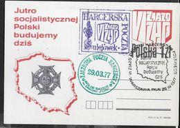 POLSKA - CARTOLINA POSTALE (MICHEL P696) CON TRE ANNULLI SPECIALI - 29.03.1977 - 1944-.... Republic