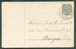 N°81 - 1c. Obl. Sc Ambulant (tpo) QUIEVRAIN-ANTWERPEN (ANVERS) Sur CP Du 31-XII-1911 Vers Bruges -TB.- 15704 - Postmark Collection
