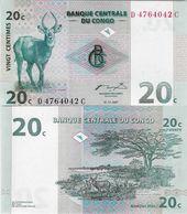 Congo DR 1997 - 20 Centimes - Pick 83 UNC - Republic Of Congo (Congo-Brazzaville)