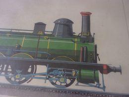 FIN XIX EME DESSIN ETUDE SIGNE MARTIN VICTOR  LOCOMOTIVE TRAIN PEINTURE - Spoorweg