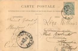 Cachet REIMS 1906 Cachet STUTTGART  POSTE RESTANTE - 1877-1920: Période Semi Moderne