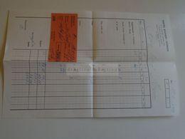 ZA282.25 Switzerland  Hotel Eicher ZÜRICH  Invoice 1961 - Schweiz