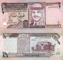 Jordan  1997 - 1/2 Dinar - Pick 28b UNC - Jordania