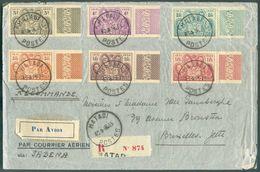 N°186/191 -LES 4 ROIS, Tous Avec Bdf, Obl. ScMATADI POSTESsur Lettre Recommandée Du 30-8-1935 Vers Bruxelles..TB.- 1 - Congo Belge