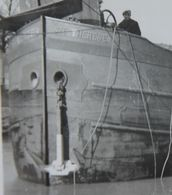Photox2 Péniche Sainte Thérèse Hainaut Circa 1940-1 Binnenscheepvaart Belgium Occupation Canal Kanaal - Bateaux