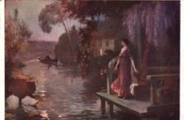 "CPA - Hippolyte LUCAS (Né à Rochefort-sur-Mer 1854)- ""L'HEURE EXQUISE"" - Edition ND.Photo - Paintings"